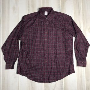 Brooks Brothers 346 Red Tartan Plaid Shirt